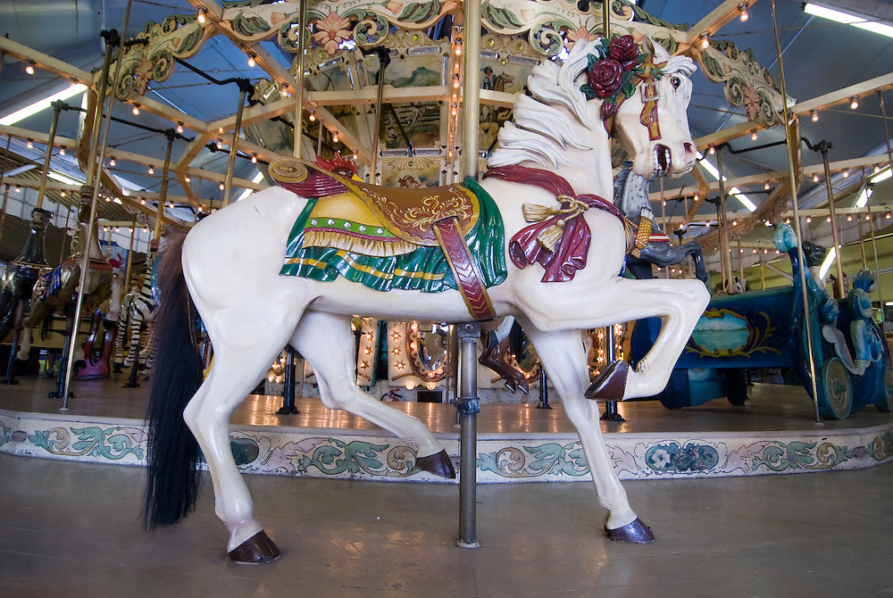 Horse of a carousel at Trimper's in Ocean City, Md