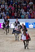 European Champion Roger Yves Bost - Castle Forbes Myrtille Paulois, 2. Ben Maher - Cella, 3. Scott Brash - Hello Sanctos<br /> FEI European Championships 2013<br /> © DigiShots