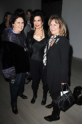 Left to right, SUZY MENKES, BIANCA JAGGER and BARONESS HELENA KENNEDY at a private view of Masters of Photography - A Journey presented by Macallan and Albert Watson held at Philips De Pury, Howick Place, London SW1 on 1st December 2010.