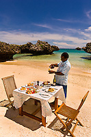 A honeymoon lunch on a deserted island, Vatulele Island Resort, Fiji Islands