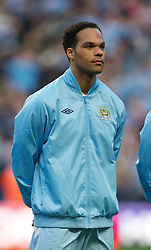 MANCHESTER, ENGLAND - Monday, April 30, 2012: Manchester City's Joleon Lescott before the Premiership match against Manchester United at the City of Manchester Stadium. (Pic by David Rawcliffe/Propaganda)
