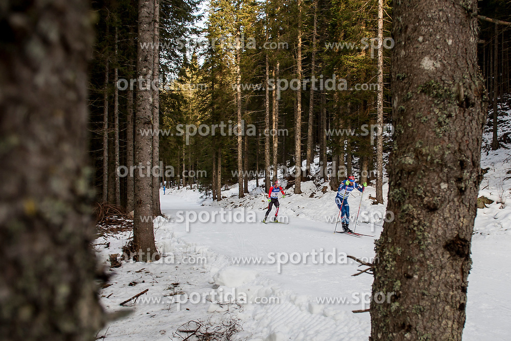 Macx Davies (CAN) and Michal Slesingr (CZE) during Men 10 km Sprint at day 1 of IBU Biathlon World Cup 2015/16 Pokljuka, on December 17, 2015 in Rudno polje, Pokljuka, Slovenia. Photo by Urban Urbanc / Sportida