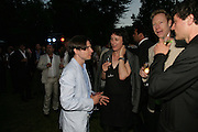 JEREMY DELLER AND CORNELIA PARKER, The Summer Party in association with Swarovski. Co-Chairs: Zaha Hadid and Dennis Hopper, Serpentine Gallery. London. 11 July 2007. <br />
