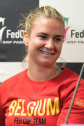 February 6, 2019 - Liege, BELGIQUE - LIEGE, BELGIUM - FEBRUARY 6 :   Ysaline Bonaventure pictured during a press conference of Belgium prior to the Fed Cup World Group 1st Round meeting between Belgium and France on February 06, 2019 in Liege, Belgium, 6/02/2019 (Credit Image: © Panoramic via ZUMA Press)