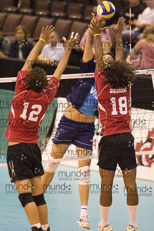 Argentina defeating Canada 2 in the 2006 Anton Furlani Volleyball Cup. .Copyright Sean Burges / Mundo Sport Images, 2006 .Anton Furlani Cup.Copyright Sean Burges / Mundo Sport Images, 2006