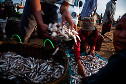 May 21, 2009 - Kampong Chhnang, Cambodia. Villagers in Chnouk Trou fish markets on the Tonle Sap. © Nicolas Axelrod / Ruom