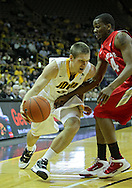 January 04 2010: Iowa Hawkeyes guard Matt Gatens (5) tries to get around Ohio State Buckeyes guard William Buford (44) during the first half of an NCAA college basketball game at Carver-Hawkeye Arena in Iowa City, Iowa on January 04, 2010. Ohio State defeated Iowa 73-68.