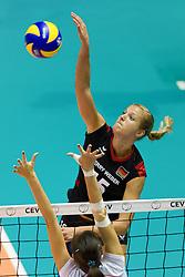 24.09.2011, Hala Pionir, Belgrad, SRB, Europameisterschaft Volleyball Frauen, Vorrunde Pool A, Deutschland (GER) vs. Ukraine (UKR), im Bild Maren Brinker (#15 GER / Pesaro ITA) // during the 2011 CEV European Championship, First round at Hala Pionir, Belgrade, SRB, 2011-09-24. EXPA Pictures © 2011, PhotoCredit: EXPA/ nph/  Kurth       ****** out of GER / CRO  / BEL ******