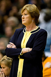 December 22, 2009; San Francisco, CA, USA;  Tennessee Lady Volunteers head coach Pat Summitt during the first half against the San Francisco Dons at War Memorial Gym.  Tennessee defeated San Francisco 89-34.