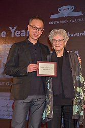 Winner of Costa Book of the Year Bart Van Es with the subject of his book, 85 year old Lien de Jong at the Costa Book of The Year Award held at  Quaglino's, 16 Bury Street, London, England. 29 January 2019. <br /> <br /> ***For fees please contact us prior to publication***