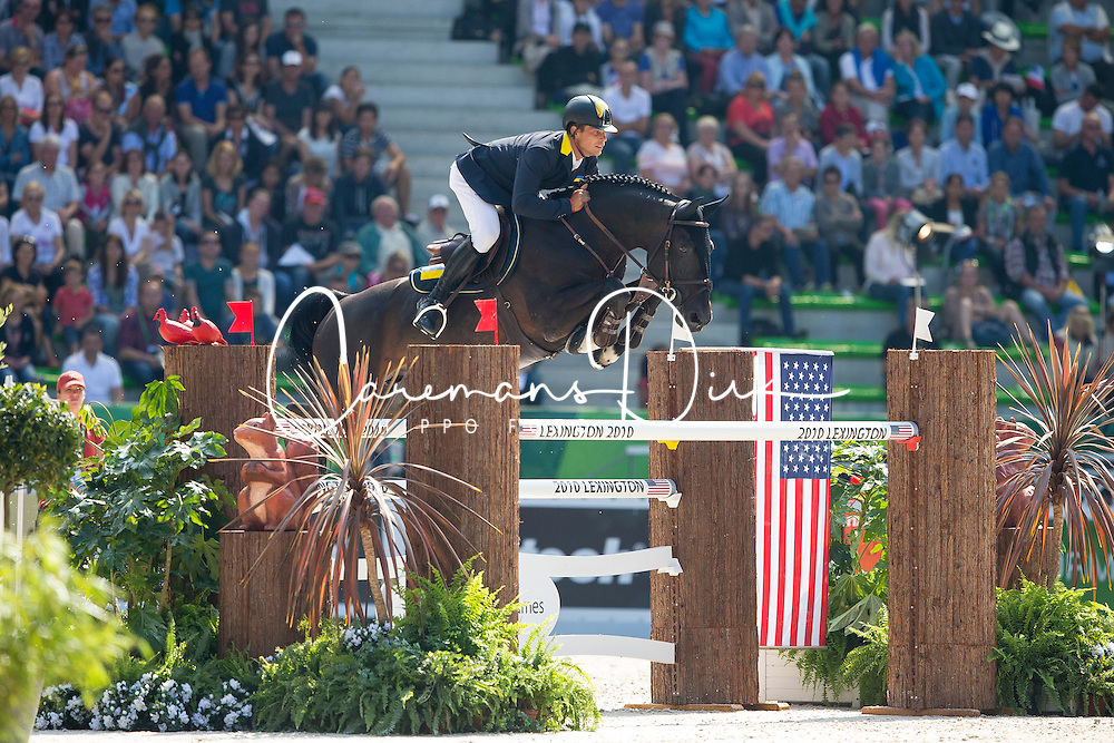 Ferenc Szentirmai, (UKR), Chadino - First Round Team Competition Jumping Speed - Alltech FEI World Equestrian Games™ 2014 - Normandy, France.<br /> © Hippo Foto Team - Leanjo De Koster<br /> 03-09-14