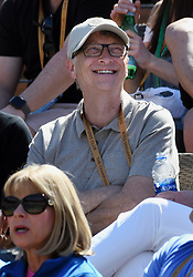 March 15, 2019 - Indian Wells, CA, U.S. - INDIAN WELLS, CA - MARCH 15: Businessman and philanthropist Bill Gates in the stands during a tennis match between Hubert Hurkacz (POL) and Roger Federer (SUI) during the BNP Paribas Open on March 15, 2019 at the Indian Wells Tennis Garden in Indian Wells, CA. (Photo by John Cordes/Icon Sportswire) (Credit Image: © John Cordes/Icon SMI via ZUMA Press)
