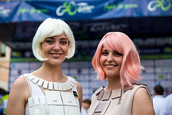 TEM Catez hostesses during 5th Stage of 26th Tour of Slovenia 2019 cycling race between Trebnje and Novo mesto (167,5 km), on June 23, 2019 in Slovenia. Photo by Matic Klansek Velej / Sportida