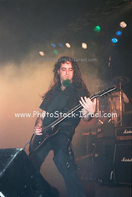 Israel, Tel Aviv, band during a Heavy Metal rock performance