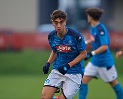 KIRKBY, ENGLAND - Wednesday, November 27, 2019: Napoli's Francesco Marrazzo during the UEFA Youth League Group E match between Liverpool FC Under-19's and SSC Napoli Under-19's at the Liverpool Academy. (Pic by David Rawcliffe/Propaganda)