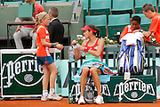 Roland Garros. Paris, France. June 1st 2012.A day with the ball boys..With the serbian player Ana Ivanovic