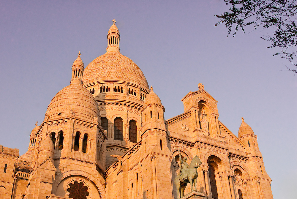 Facade of Sacre Ceour Basillica in Montmartre, Paris,