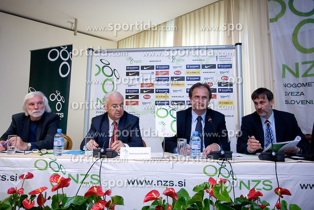 Rudi Bracic, Franc Kopatin, Ivan Simic and Dane Jost at General Assembly 2009 of Slovenian football federation (NZS), on May 7, 2009, in Hotel Kokra, Brdo at Kranj, Slovenia.  (Photo by Vid Ponikvar / Sportida)
