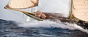 12 Meter Class Kate racing at the St. Maarten Classic Yacht Regatta.