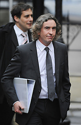 © London News Pictures. 22/11/2011. London, UK.  Comedian STEVE COOGAN arriving at The Royal Courts of Justice today (22/11/2011) to give evidence at the Leveson Inquiry into press standards. The inquiry is being lead by Lord Justice Leveson and is looking into the culture, and practice of the UK press. The Leveson inquiry, which may take a year or more to complete, comes after The News of The World Newspaper was closed following a phone hacking scandal. Photo credit : Ben Cawthra/LNP