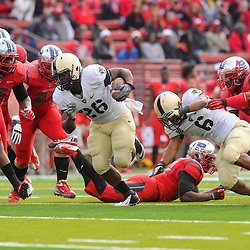 10 November 2012: Army Black Knights full back Larry Dixon (26) rushes the ball during NCAA college football action between the Rutgers Scarlet Knights and Army Black Knights at High Point Solutions Stadium in Piscataway, N.J..