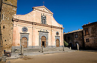 CIVITA DI BAGNOREGIO ITALY - CIRCA MAY 2015: Historic church in Church in Civita di Bagnoregio.
