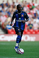 Photo: Steve Bond/Richard Lane Photography. Nottingham Forest v Sunderland. Pre Season Friendy. 29/07/2008. Pascal Chimbonda comes away with the ball