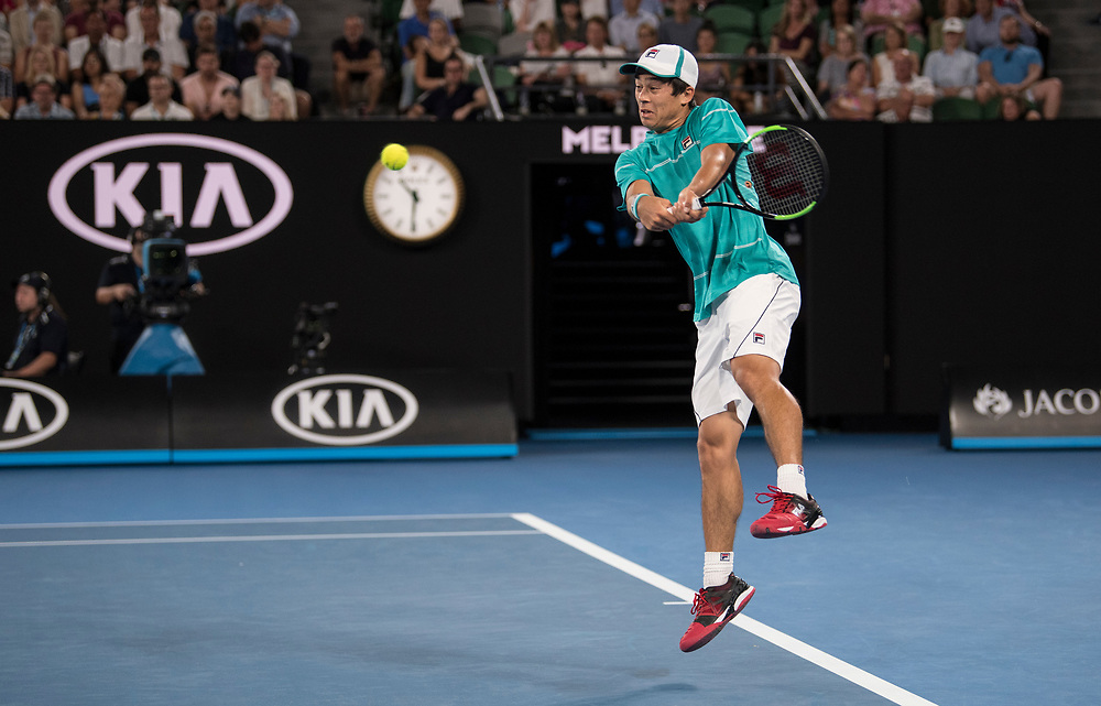 Mackenzie McDonald of the United States on day three of the 2018 Australian Open in Melbourne Australia on Wednesday January 17, 2018..<br /> (Ben Solomon/Tennis Australia)