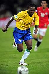 Kleber(6)  during the third soccer match of the 2009 Confederations Cup between Brazil and Egypt played at Vodacom Park,Bloemfontein,South Africa on 15 June 2009.  Photo: Gerhard Steenkamp/Superimage Media.
