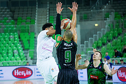 Kostja Mushidi of Mega Bemax during Basketballl match between Petrol Olimpija Ljubljana and Mega Bemax in Round #15 of ABA League, on January 5, 2018 in Arena Stozice, Ljubljana, Slovenia. Photo by Ziga Zupan / Sportida
