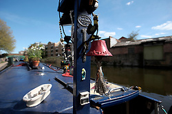 UK ENGLAND LONDON 30APR16 - Detail on the boat of Canal boat resident Duncan Stevens near Haggerston, east London.<br /> <br /> jre/Photo by Jiri Rezac<br /> <br /> © Jiri Rezac 2016