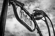 Classic Metro Sign, Paris