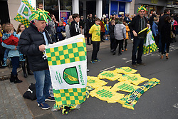 Norwich FC parade in Norwich to celebrate winning the Championship and promotion into the Premier League. Norwich, UK 6/5/19