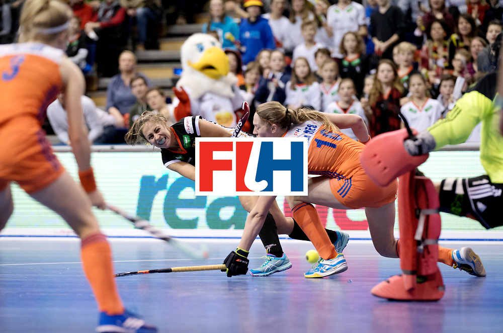 BERLIN - Indoor Hockey World Cup<br /> Final: Netherlands - Germany<br /> Germany wins the world championship.<br /> foto: Marie M&auml;vers.<br /> WORLDSPORTPICS COPYRIGHT FRANK UIJLENBROEK