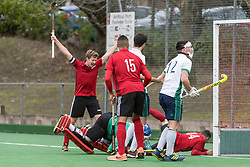 Southgate v Chichester - East Conference Men's Hockey League, Trent Park, London, UK on 18 February 2018. Photo: Simon Parker