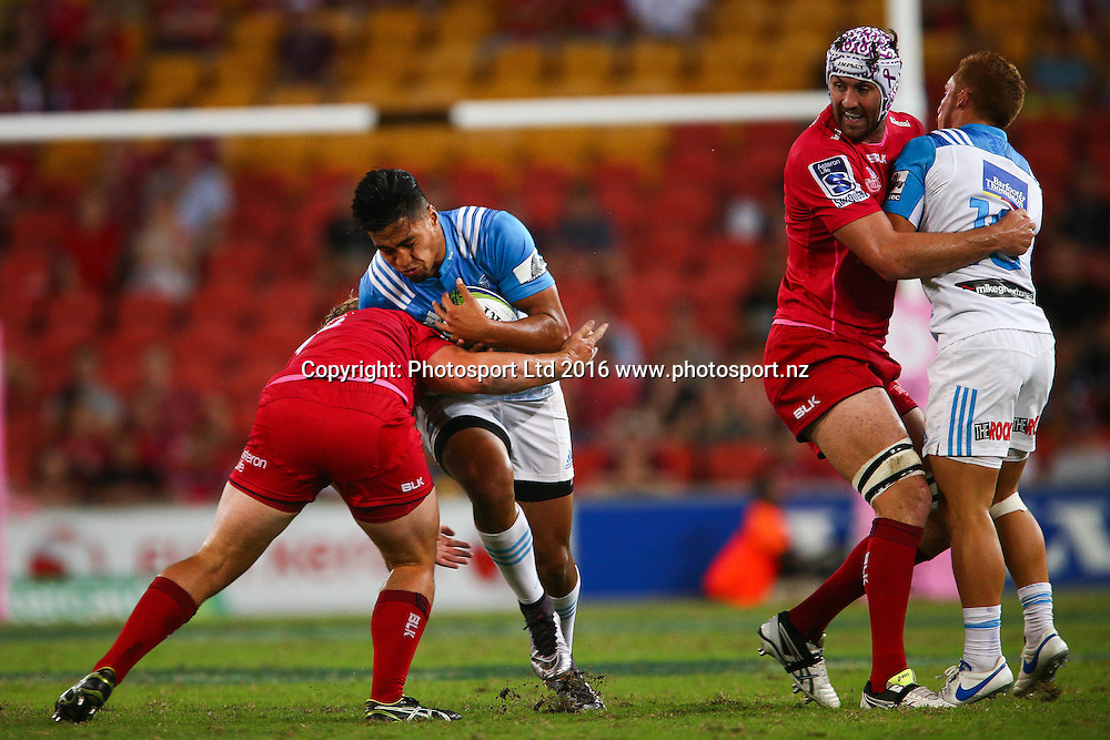 Rieko Ioane. Investec Super Rugby, Reds v Blues, Suncorp Stadium,  Brisbane Australia  19 March 2016. Copyright Image: Patrick Hamilton / www.photosport.nz