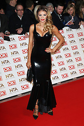 © Licensed to London News Pictures. 21/01/2015, UK. Chloe Sims, National Television Awards, The O2, London UK, 21 January 2015. Photo credit : Richard Goldschmidt/Piqtured/LNP