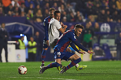 February 24, 2019 - Valencia, Valencia, Spain - Ruben Rochina of Levante UD and Lucas Vazquez of Real Madrid during the La Liga match between Levante and Real Madrid at Estadio Ciutat de Valencia on February 24, 2019 in Valencia, Spain. (Credit Image: © AFP7 via ZUMA Wire)