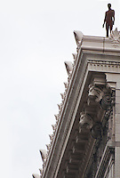 New York, New York City. Close-up of the statue on top of the Flatiron building.