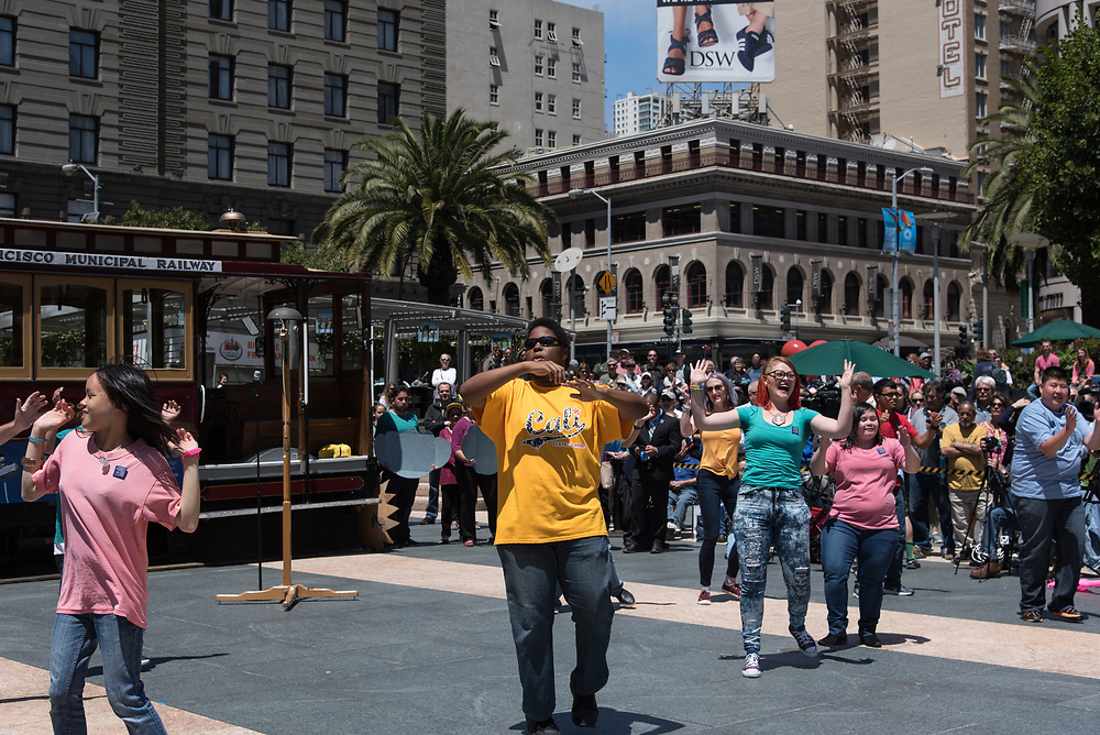 Students from AccessSFUSD Performing in the Amateur Competition at the 54th Annual Cable Car Bell Ringing Contest | July 13, 2017