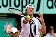 Paris, France. June  1st 2009. .Roland Garros - Tennis French Open. .German player Tommy Haas against Roger Federer