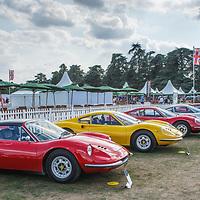 Ferrari Dinos at the Salon Privé, 31 August - 1 September 2018