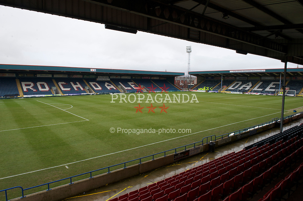 ROCHDALE, ENGLAND - Saturday, January 1, 2011: Rochdale's potland Stadium. (Photo by Dave Kendall/Propaganda)