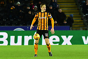 Michael Dawson of Hull City during the EFL Sky Bet Championship match between Hull City and Barnsley at the KCOM Stadium, Kingston upon Hull, England on 27 February 2018. Picture by Craig Zadoroznyj.