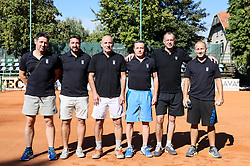 The athletes prior to the Tennis tournament for amateurs organised by Tenis Slovenija, on September 15, 2018 in Teniski Klub Branik, Maribor, Slovenia. Photo by Matic Klansek Velej / Sportida