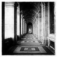 Passageway in grand building