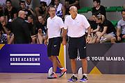 Ettore Messina Mario Fioretti - Clinic con Kobe Bryant e Ettore Messina, mamba mentality tour 2016, 22/07/2016, Milano. Foto Fip/Ciamillo