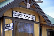 The Cumbres & Toltec Scenic Railroad train depot (National Historic Site), Chama, New Mexico
