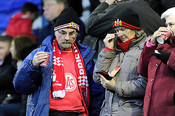 Bristol City fans - Photo mandatory by-line: Dougie Allward/JMP - Tel: Mobile: 07966 386802 16/11/2013 - SPORT - FOOTBALL - Prenton Park - Birkenhead - Tranmere v Bristol City - Sky Bet League One