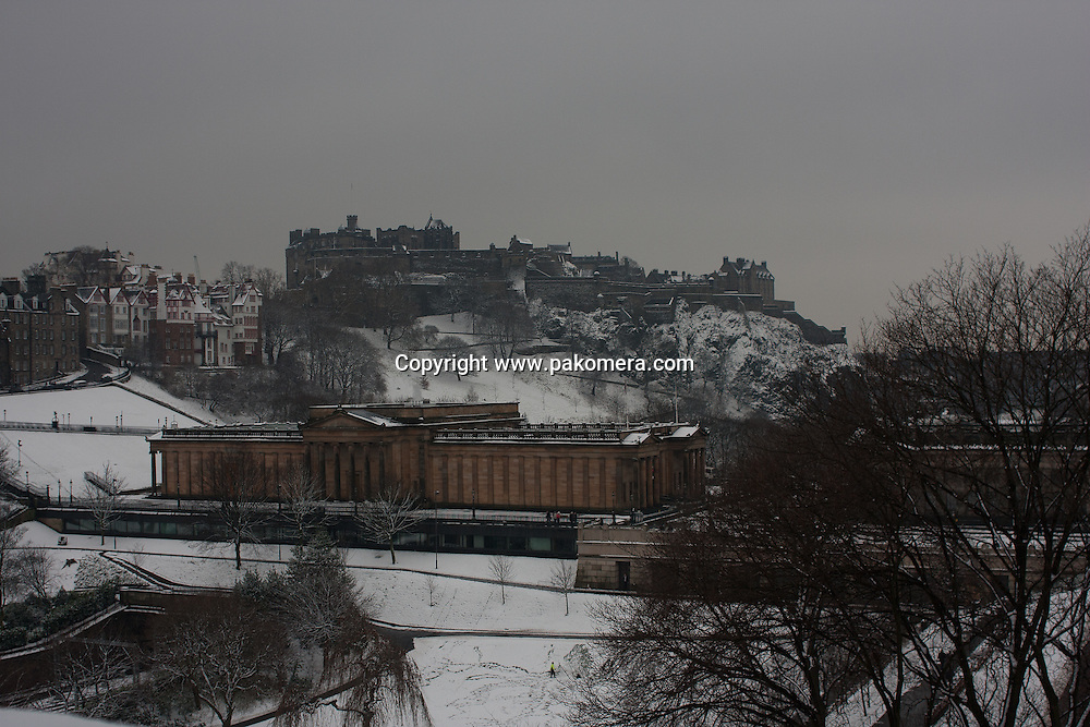 Edinburgh, Scotland 9th February 2009. General view from Scott Monument in Princess Street. Photo by Pako Mera